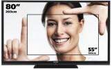 Cât nu poţi cuprinde cu braţele: Aquos TV 3D, o lăţime de 186 cm