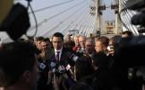 Podul Calafat-Vidin, inaugurat în prezenţa lui Ponta şi a comisarului european Johannes Hahn. Care s...